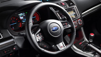 Wonderful ... Subaru WRX_STI 2015 Subaru WRX_STI 2015 Leather Wrapped Small Diameter  Flat Bottom Steering