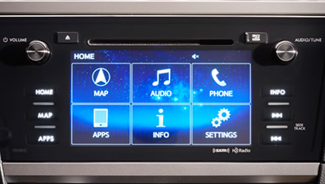 2016 Subaru Legacy 7-inch Infotainment System with Navigation