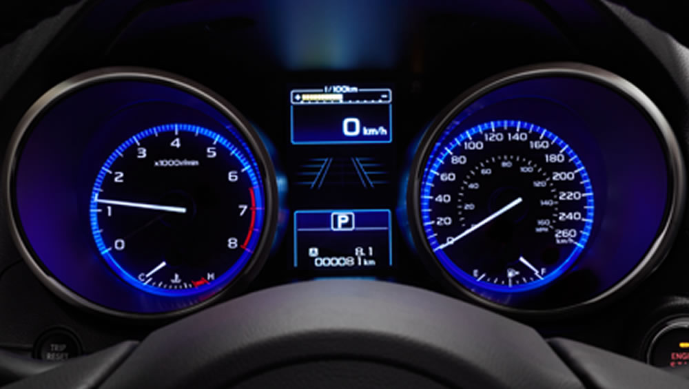 2018 Subaru Legacy Gauges and LCD Information Display