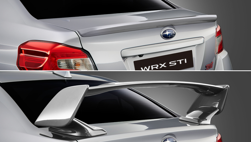 2018 Subaru WRX and WRX STI Aerodynamic Rear Spoilers