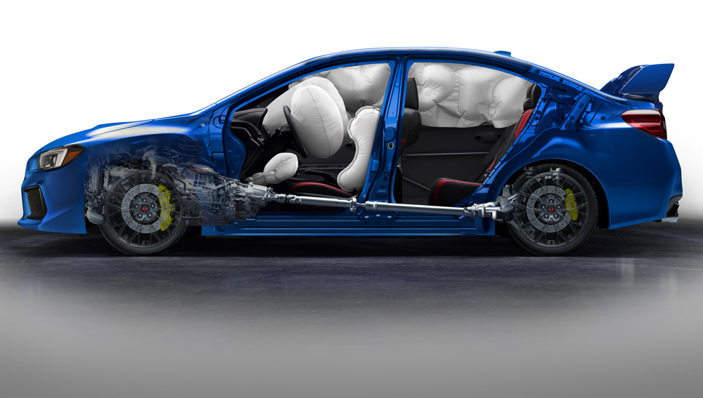 2019 Subaru WRX and WRX STI A Force Field of Airbags