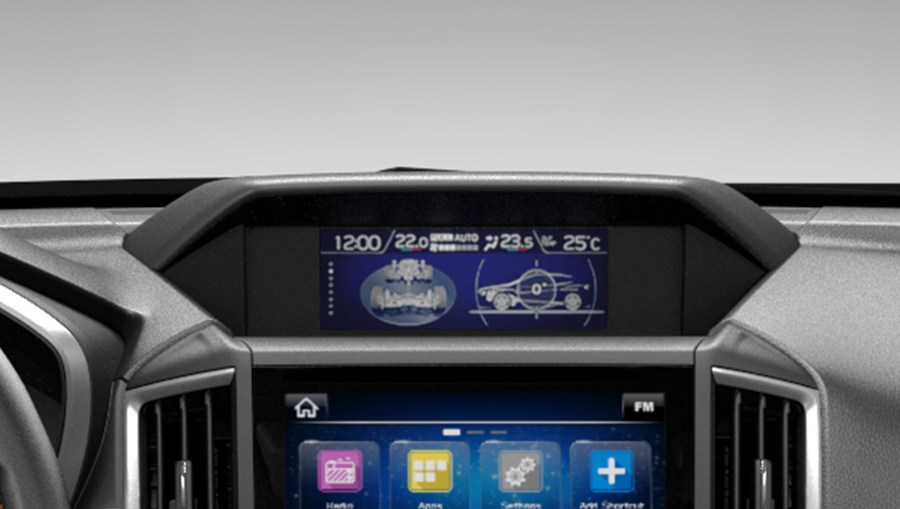 2018 Subaru Crosstrek 6.3-inch Multi-function Colour Display