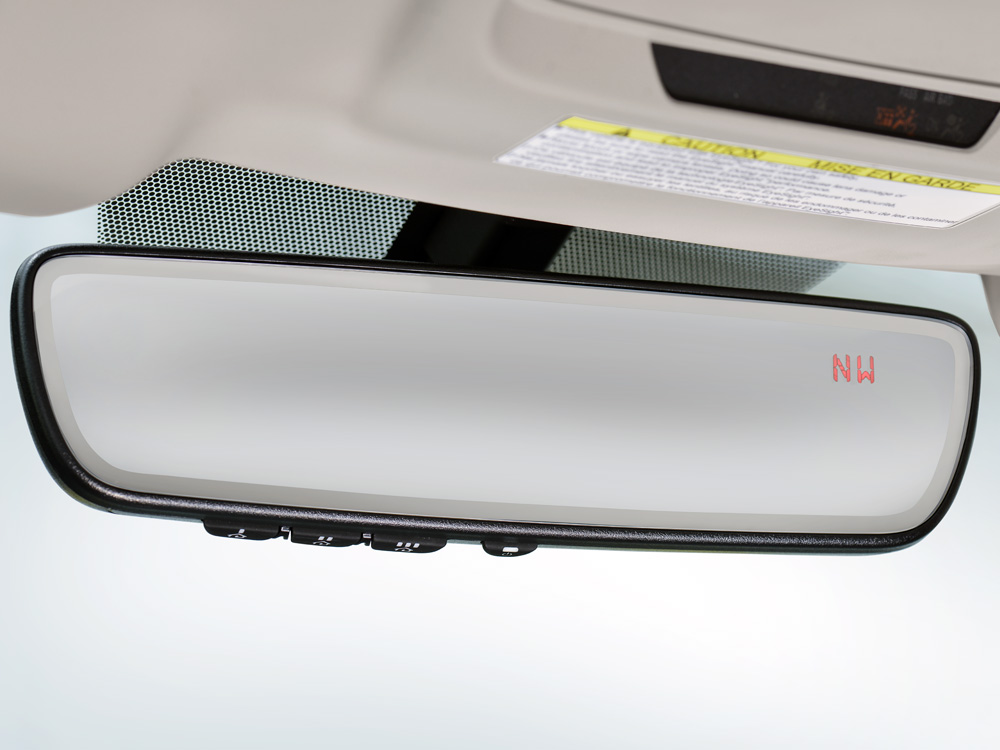 2018 Subaru Outback Auto-dimming Rear-view Mirror with Homelink<sup>®</sup>