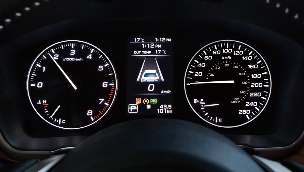 2020 Subaru Legacy Gauges and multi-information display