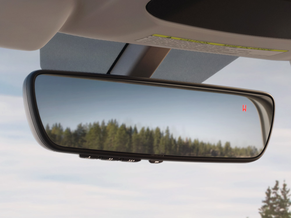 2020 Subaru Legacy Auto-dimming Rearview Mirror with Homelink<sup>®</sup> & Compass