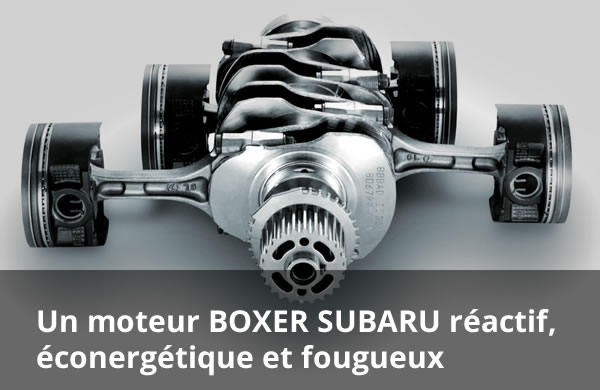 A responsive, fuel-intelligent and wildly fun SUBARU BOXER engine