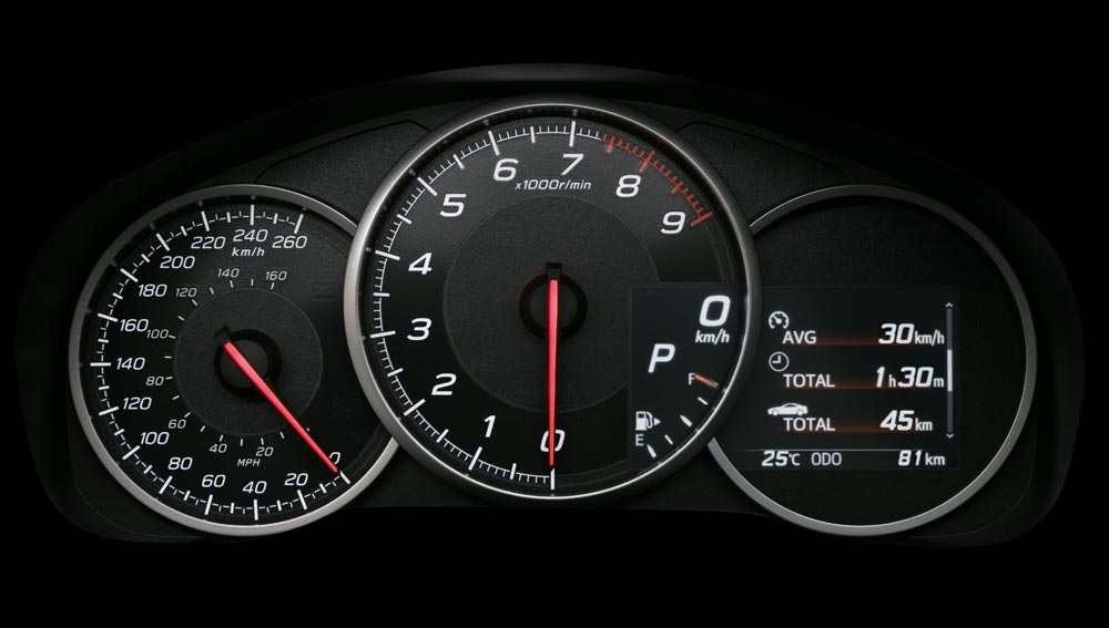 Subaru BRZ 2018 Sport Gauges with Rev Indicator