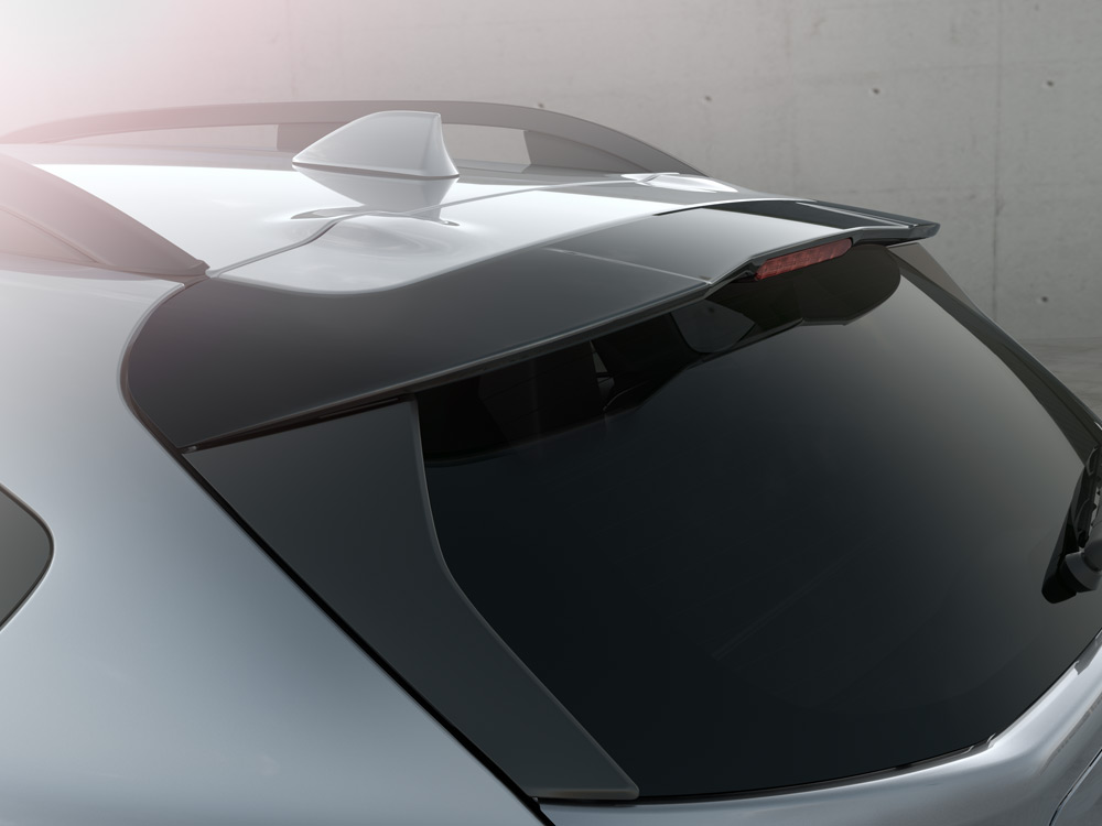 Roofline Rear Spoiler with Integrated Brake Light