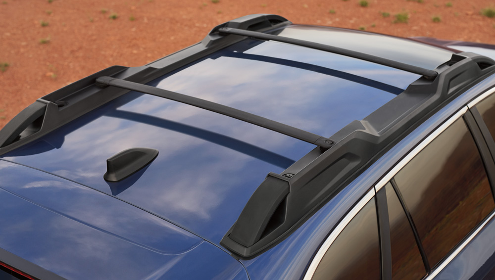 2020 Subaru Outback Roof Rails with Swing-in-place Crossbars