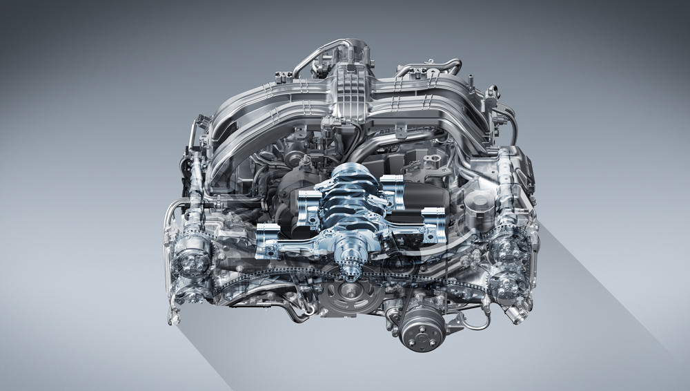 Subaru Forester Wilderness SUBARU BOXER® engine is linked to a new Lineartronic® CVT