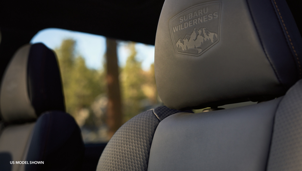 Subaru Forester Wilderness ultra-resilient soft-touch upholstery