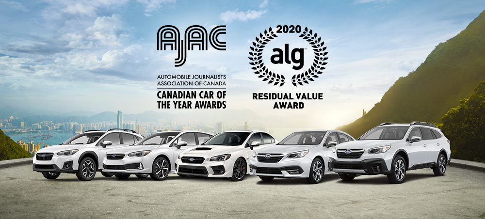 Image result for Subaru Canada Awarded Three 2020 Canadian Residual Value Segment Awards