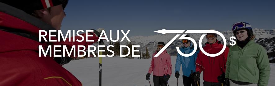 Remise aux membres de l'Alliance des moniteurs de ski du Canada